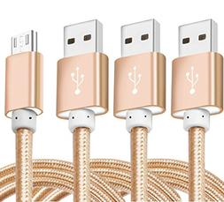 Micro-USB Cable, Ibarbe 5FT 3Pack for Amazon Kindle Fire, To