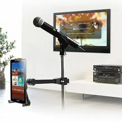 Microphone Stand Tube Pole Clamp Mount Holder for iPad 1/2/3