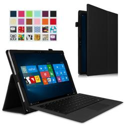 Microsoft Surface Tablet  Leather Case Cover w/ Keyboard Sta