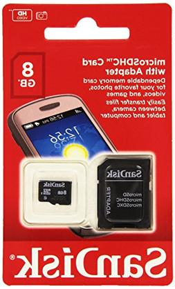 SanDisk 8GB Mobile MicroSDHC Class 4 Flash Memory Card With