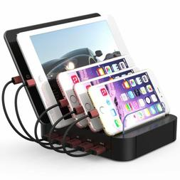 Multi USB hub Charging Dock Station Charger Stand organizer