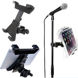 "Music Microphone Stand Mount Holder For 7-11"" Tablet iPad Ai"