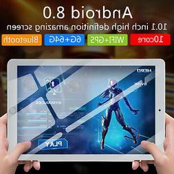 10.1'' Android 8.0 Ten-Core Tablet PC 64GB WIFI Bluetooth HD
