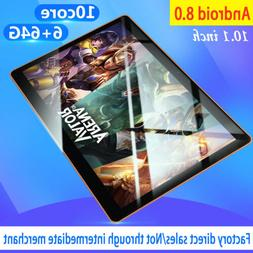 "New 10"" HD Game Tablet PC Ten Core 6+64G Android 8.0 GPS 3G"