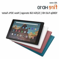 NEW Amazon Fire HD 10 Tablet 32 / 64 GB  - ALL COLORS