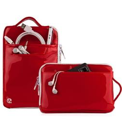 New Patent Leather Tablet Sleeve Handle Tote Pouch Bag For A