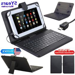 """New PU Leather Stand Case with Micro USB Keyboard for 10"""" in"""