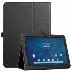 For Onn 10.1'' Android Tablet Case Vegan Leather Folio Stand