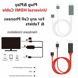 Phone to TV 1080p Universal HDMI HDTV AV Adapter Cable For C