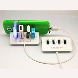Portable 4-Port USB 2.0 OTG Hub for Android Phone Tablet wit