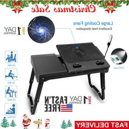 Portable Laptop Table Lap Desk with Adjustable Height and A