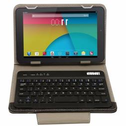 PU Leather Bluetooth Wireless Keyboard Case Cover With Stand