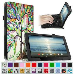 """PU Leather Folio Case Stand Cover for 10.1"""" RCA W101 / W101"""