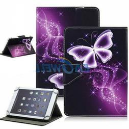 """Purple Butterfly For 7"""" 8.5"""" 10"""" Inch Tablet PC Universal PU"""