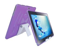 iShoppingdeals - Purple TPU Rubber Skin Cover Case and Multi