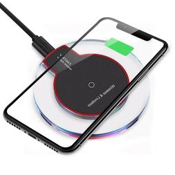 Qi Wireless Charger Charging Pad for iPhone 11/Pro/Max/XS/8/