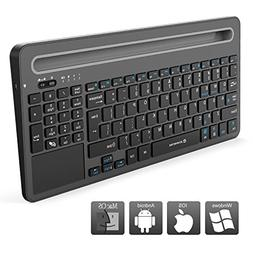 Zoweetek Rechargeable Wireless Bluetooth Keyboard with Touch