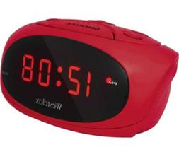 Westclox Red LED Display Tabletop Electric Alarm Clock  7004