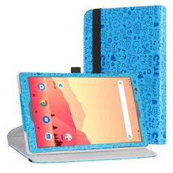 "Rotary Stand Cute Pattern Case For 10.1"" Vankyo MatrixPad S2"