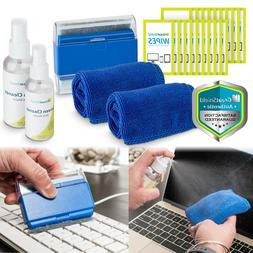 Screen Cleaning Kit Cloth Wipe Brush for TV Tablet Laptop Co