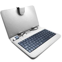 """Sdeals Universal 7"""" Tablet Case with Keyboard, White"""