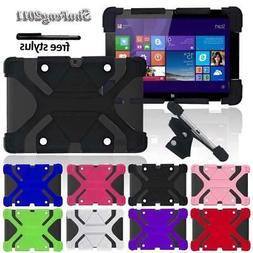 Shockproof Silicone Stand Cover Case Fit Various Linx 10 inc