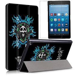 Gzerma Slim Case for Fire HD 8 Tablet 2017  + Screen Protect