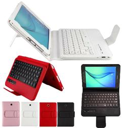 Slim Leather Case Cover with Wireless Keyboard for Samsung G