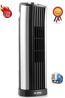 Small Oscillating Fan Mini Tower Table Top Quiet Indoor Comp