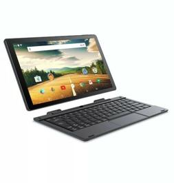 "Smart WiFi 10.1"" 2-in-1 Touchscreen Tablet PC Android Quad C"