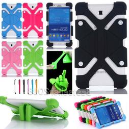 """Soft Silicone Shockproof Stand Cover Case For Various 8"""" AT&"""