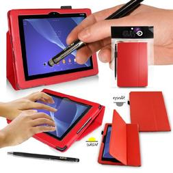 SONY XPERIA Z2 Tablet Case - RED PropUp Stand Case - Cover w