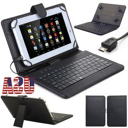 Stand PU Leather Case Cover Micro USB Keyboard For Lenovo Sa