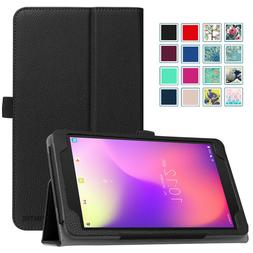 "For T-Mobile Alcatel 3T Tablet 8"" Case Premium PU Leather Fo"