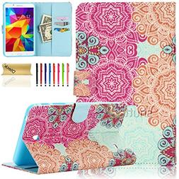 Tab 4 7.0 Case , Dteck Colorful Fancy PU Leather Magnet Desi