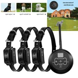 Wireless Electric Dog Fence 3 Dogs Pet Containment System Sh