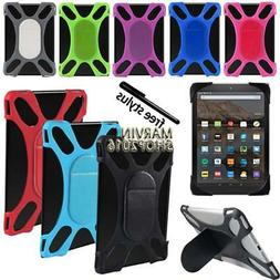 "Tablet Shockproof Soft Silicone Stand Cover Case For 7"" 8"" A"