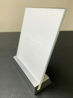 Tabletop Countertop Sign Holder Display Stand, Clear Acrylic