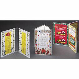 """Tabletop Sign Holder Three-Sided Clear Plastic - 4""""L x 8 1/2"""