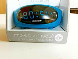 Westclox Teal LED Display Tabletop Electric Alarm Clock  700