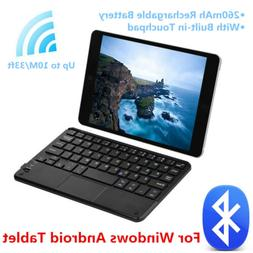 Ultra Slim Wireless Bluetooth Keyboard with Touchpad For Win