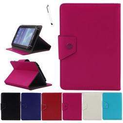 Universal Folio Leather Cover Stand Case For AT&T Trek 2 HD