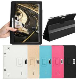 Universal Folio Leather Stand Cover Case For 10 & 10.1 Inch