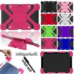 Universal Shockproof Silicone Stand Cover Case Fit Various 1