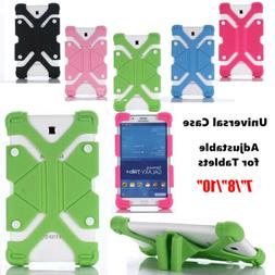 Universal Soft Silicone Tablet Stand Case Cover For Lenovo 7