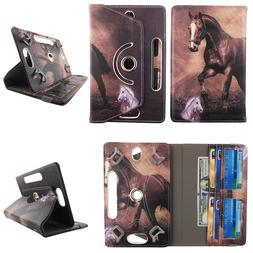Tablet Case 10 inch Universal Folio Stand Leather Rotating C