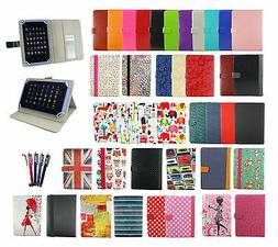 Universal Wallet Case Cover Stand fits YunTab E706 Tablet PC