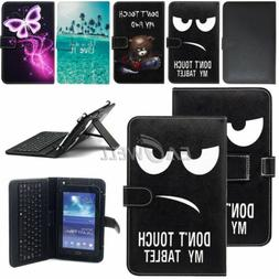 """US For Amazon Kindle Fire 7"""" 8"""" 10"""" Tablet Leather Micro USB"""