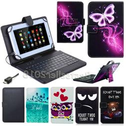"""For ASUS Zenpad Z8S ZT582KL 8"""" Tablet PU Leather Micro USB K"""
