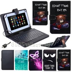 US For Lenovo Tab 4 8 / 10 inch Tablet PU Leather Case Micro